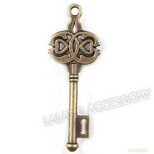 20x 142266 Wholesale New Antique Bronze Key Alloy Charms Pendants Findings