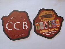 Beer Coaster ~*~ CIGAR CITY Brewing ~ Tampa, Florida Craft Brewery ~ Drink Local