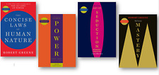 NEW Robert Greene 4 Books Set Concise 48 Laws, Mastery, Seduction, Laws of Human