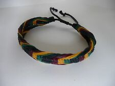 Rasta plaided Arrow bracelet cotton braided Bob Marley friendship wristband