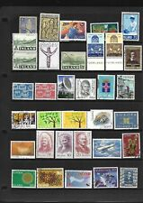 Iceland - Modern (Mainly) selection on A4 stockcard - Mint & Used