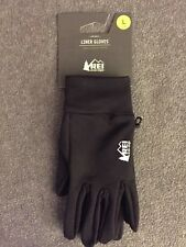 New listing New Rei Co-Op Unisex Lightweight Warmth Stretch Twill Liner Gloves Black Large