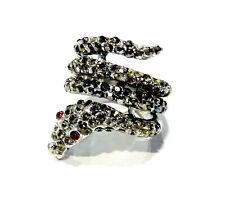 Bijou bague fantaisie serpent alliage argenté ring idéal pour cadeau