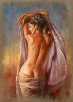 CHOP318 large 100% hand-painted abstract nude girl art oil painting on canvas