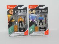 Mega Construx Heroes 2 Star Trek Captain Kirk Commander Spock Mini Figs Box Dmg