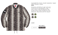 Supreme / The North Face ® Snakeskin Taped Seam Coaches Jacket Black Size Large