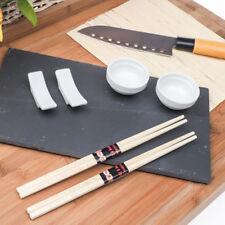 Set Sushi Cibo Giapponese con Vassoio in Ardesia Bacchette Accessori e Coltello