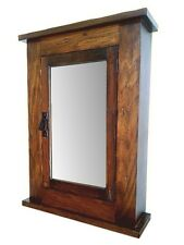 Primitive Mission Rustic Medicine Cabinet / Solid Wood Handmade / walnut Finish