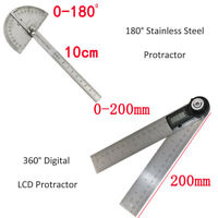 100MM Edelstahl Winkellineal 200MM Digitaler LED Winkelmesser Gradmesser Lineal