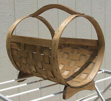 Decorative Magazine Newspaper Firewood Kindling Holder Hand Crafted Oak