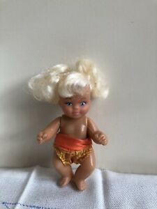 Vintage Baby Girl Doll Rubber Face Plastic Body Blond Hair Small Toy Collectable