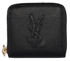 New Saint Laurent YSL 352906 Black Leather Belle de Jour Zip Around Small Wallet