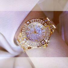Ladies Wristwatch Women Rhinestone Stainless Steel Big Dial Crystal Watch