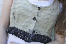 Antique French work wear bodice 19th century timeworn clothing clothes peasant