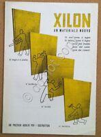Materiali edili - volantino - pubblicità - Xilon - truciolato - Milnao anni '40