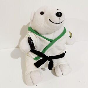 "Coca-Cola Brasil Karate Sports Bear Vintage 2000 10"" Stuffed Plush Toy"