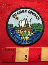 Cub Day Camp Discover America Discover Scouting 1492-1992 Boy Scout Patch 79V5