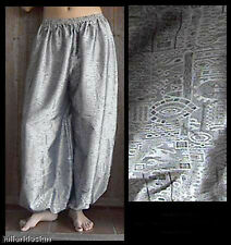 Harem Pants Belly Dance Silver on Silver Sparkle