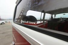 Slow is all I know VINYL STICKER DECAL VW VOLKSWAGEN GTI JETTA BEETLE BUG BUS