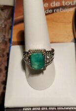 Emerald ring size 10 18k Gold 14/20