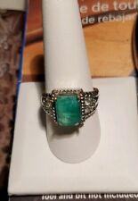 4.3ct Columbian Emerald ring size 10 18k Gold 14/20