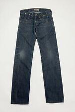 Levis 504 W28 L34 tg 42 jeans uomo donna usato slim boyfriend denim blu T4899