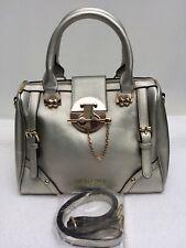 Gold Faux Leather Large Grab Handbag With Shoulder Strap. Excellent Condition