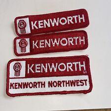 New listing vtg patch applique iron sew lot of 3 kennworth northwest 8991