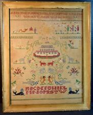 19th Century School Girl Needlepoint Sampler