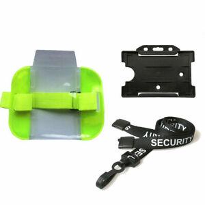 Security Doorman Bouncer Pack | (Armband, Lanyard Neckstrap, ID Pass Cardholder)