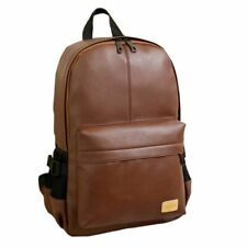 Mens Faux Leather Fashion Laptop Backpack Casual Style Rucksack Business Bag