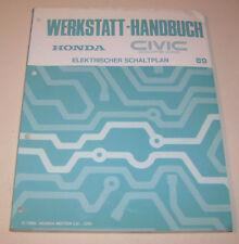 Schaltpläne Honda Civic Coupe CR-X - Stand 1989 !