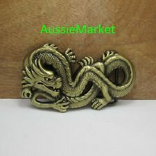 1 x mens ladies belt buckle quality alloy jeans brass chinese new year dragon