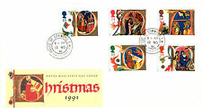 12 NOVEMBER 1991 CHRISTMAS ROYAL MAIL FIRST DAY COVER HOUSE OF COMMONS SW1 CDS