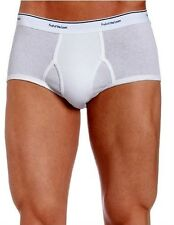Mens 3 Pack Fruit of the Loom White BRIEFS Underwear 100% Cotton Solid S M L XL
