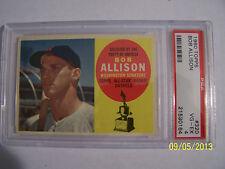 Original 1960 Topps 320 Bob Allison PSA 4 Washington Minnesota Major Leagues