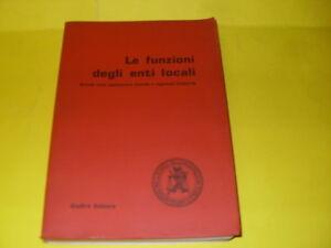 AAVV - FUNZIONI DEGLI ENTI LOCALI - ED.GIUFFRE' - 1986