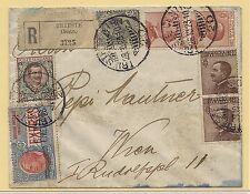 28.10.1923 Raccomandata espresso da Trieste per Vienna