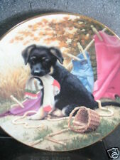 Puppy Playtime Hanging Out 1987 Jim Lamb Ltd Ed Plate