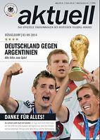 Länderspiel 03.09.2014 Deutschland - Argentinien, Weltmeister - Poster WM-Pokal
