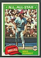 1981 Topps MIKE SCHMIDT #540 Philadelphia Phillies HOF NM-MINT