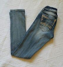 "Miss Me Jeans Sz 24 JE1099T2R Light Embellished Straight Inseam 31"""