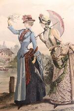 1882-1891 Album de Gravures de Mode par un amateur italien 89 estampes
