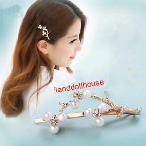 10pcs Branch pearl hairpin headdress adult bangs clip word clip girl hair clip