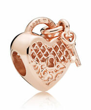 NEW Authentic Pandora Charms Bead Rose Gold Love You Lock 787655