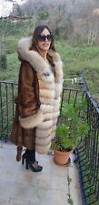 VISONE MINK brown COAT CAPPOTTO VISONE MARRONE Manteau МИНКА de vison fox fur