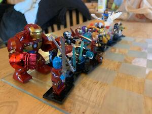 Lego Avengers Chess 32 minifigures lot custom weapons Ironman Hulk Groot