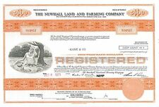 The Newhall Land and Farming > 1971 San Francisco California bond certificate