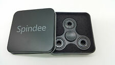 Spindee Black Fidget Spinner - High Quality Fast Ceramic Bearing ADHD SEN Autism