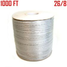 1000FT Phone Line Cable 26/8 Cord 26AWG 8 Conductor Wire Stranded Flat Silver